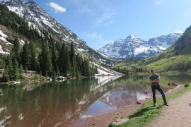 maroon bells on the colorado road trip
