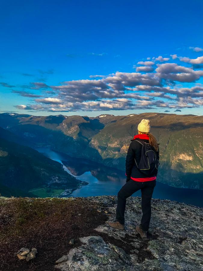 halfway summit on mt prest in aurland norway
