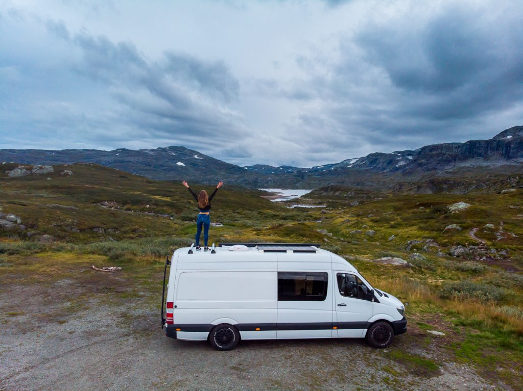 Norway vanlife camp spot