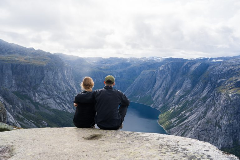 breathtaking view on trolltunga