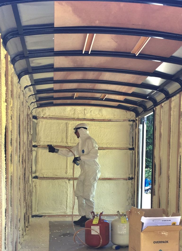spray foam van insulation